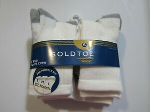 Gold Toe Boys Small 6 Pair Sport Crew Socks Nwt