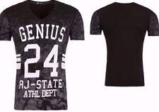 Vintage Kurzarm Herren-T-Shirts mit V-Ausschnitt