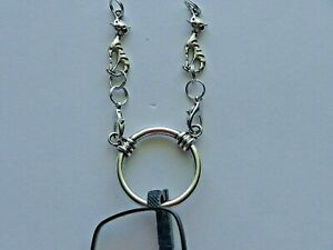 """24"""" CATS SOLDERED STAINLESS STEEL CHAIN EYEGLASSES HOLDER LA NECKLACE LOOP RING"""