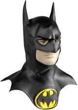 Batman Mask Original Licensed Black Latex Full Head Mask With Cowl & Symbol
