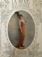MODE PRATIQUE November 6,1909 sewing pattern Splendid TEMPLIER-RONDEAU dress