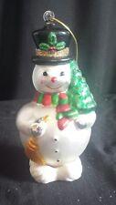 Mercury Glass Hand-painted Snowman Ornament