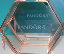 AUTHENTIC NEW PANDORA LE Rose gold colored glass/ mirror Jewelry box in FRENCH!