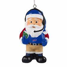 Buffalo Bills Coach Santa Resin Holiday Christmas Tree Ornament New