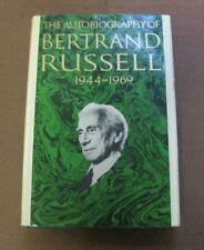 The Autobiography Of Bernard Russell 1944-1969 Hcdj philosophy 1st printing Vg+