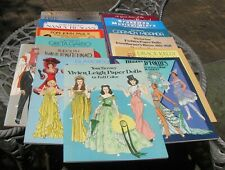 Lot of 14 Uncut Paper Dolls Tom Tierney Movies Fashion Victorian Pope Dance etc