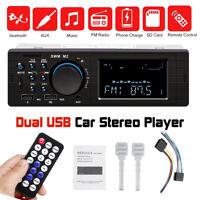 Car Radio bluetooth Stereo Player FM MP3 USB AUX SD In-dash Audio Head Unit 12V