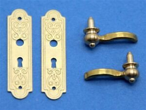 4Pcs of 1:12 dollhouse miniature drawer handles drawer pulls BF