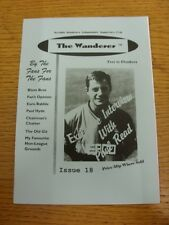 1997/1998 Wycombe Wanderers: Fanzine - The Wanderer Independent Supporters Club,