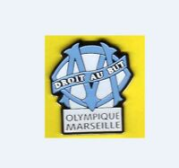 Pin's pins lapel pin Football Foot OM Olympique Marseille Droit au but