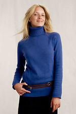 LAND'S END CANVAS Women's Turtleneck Sweater Cobalt Blue XXS XX-Small 00 0 2 NEW