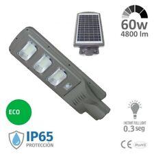 Farola LED 60w Solar - Sensor De Movimiento Y Crepuscular