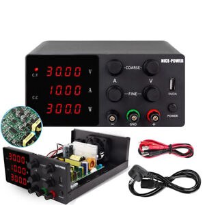 Digital Laboratory Regulated DC Power Supply 10A 30V Switching Bench Source AU.
