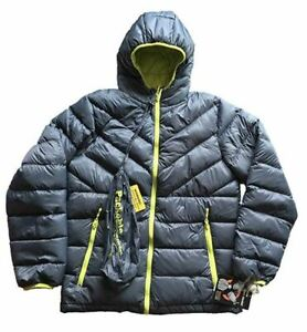 Weatherproof 32 Degrees Boys Youth Packable Down Jacket Dk. Grey Size XL (18/20)