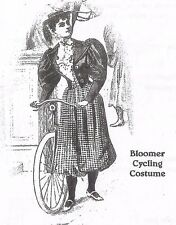 """14""""ANTIQUE-MODERN FRENCH FASHION/GIBSON GIRL DOLL BICYCLE DRESS JACKET PATTERN"""