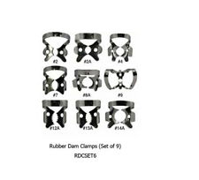 Rubber Dam Clamps (Set of 9)RDCSET6 Dental Instruments (Tools) Shipped Fr Canada
