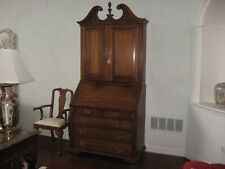 Vintage HENKEL HARRIS Black Walnut Blind Door Secretary Desk-Model 6015 w/Chair