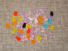 50 X CUTE GUMMY BEARS RESIN CABOCHON CRAFT EMBELLISHMENTS NEW IN BAG