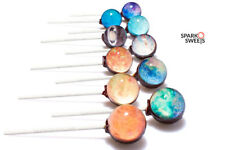 Galaxy Lollipops Planet Designs 10 Individual Designs with Gift Box Made in USA
