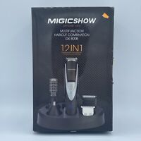 Migicshow 12 in 1 Hair Grooming Kit Waterproof GK-800B Beard Nose Charging Tray