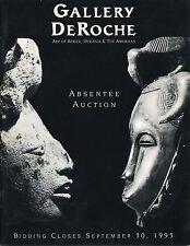 GALLERY DEROCHE AFRICA OCEANIA SOUTH AMERICA VTG TRIBAL ART AUCTION CATALOG 1995