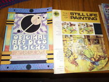 LOT OF 4 HOW TO PAINT BOOKS~STILL LIFE~FLOWERS AND ACRYLICS & ART DECO