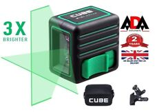 Laser Level Cross Line Self Leveling GREEN Beam + CLAMP MOUNT ADA CUBE MINI