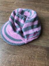 Pineapple Pink & Grey Stripe Girls Wooly Beanie Cap