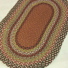 100% Jute Oval reversible natural 60x90cm Braided, Rusts, American style rug.