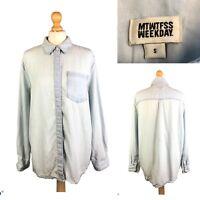 MTWTFSS Weekday Women's Denim Blue Long Sleeve Shirt Size S