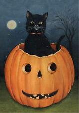 NEW LARGE TOLAND HALLOWEEN HOLLOW CAT FLAG BLACK CAT JACK O LANTERN 28 x 40