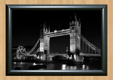 London Tower Bridge B&W Wall Art Home Decor A4 Photo Poster Picture Print Night