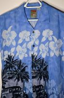 Hawaiian Pineapple Connection Shirt Men Size Medium Flowers Cars Surf 100% Rayon