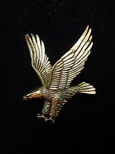 """JJ"" Jonette Jewelry Antique Gold Pewter American EAGLE Patriotic Pin"