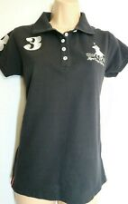 Royal County of Berkshire Polo Club 1985 Ladies Top Shirt Black Size 10-12 Large