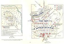 Original Antique 1781 Revolutionary War Maps Battles of Guilford & Cowpens