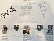 John Glenn and Buzz Aldrin Autographs on John Young Astronaut Retirement Program