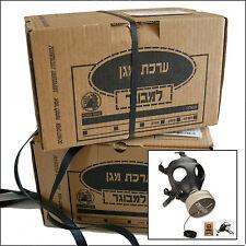 Israeli Gas Mask Adult Civilian Protective kit w/ Filter, Drink Tube, 2007-2008
