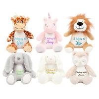 Personalised soft teddy I belong too