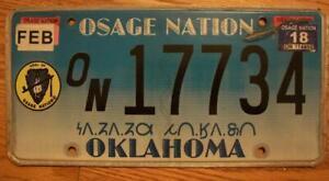 SINGLE OKLAHOMA / OSAGE NATION TRIBAL LICENSE PLATE - 17734