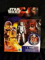 """First Order Flametrooper Star Wars Force Awakens Armor Up 3.75"""" Free Shipping"""