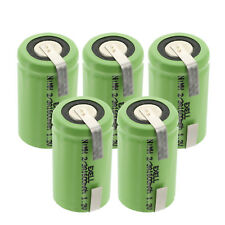 5x Exell 2/3A 1600mAh 1.2V NIMH Rechargeable Batteries w/ Tabs FAST USA SHIP