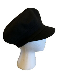 Cute Nine West Wool Blend Newsboy Hat in Black NWT