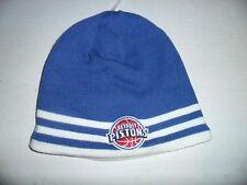 NWOT - NBA - ADIDAS - DETROIT PISTONS KNIT - YOUTH BEANIE HAT - BLUE