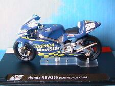 MOTO GP BIKE HONDA RSW250 #26 DANI PEDROSA 2004 1/24 TELEFONICA MOVISTAR RSW 250