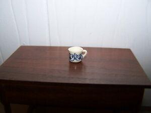 1:12  Jean Tag IGMA Artisan Porcelain Mug Dollhouse Miniature