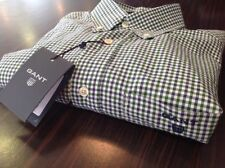 Cotton Check Regular Size GANT Casual Shirts & Tops for Men