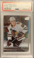 2017 2018 UD Henri Jokiharju YOUNG GUNS CLEAR CUT ACETATE RC ROOKIE PSA 9