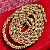 """Michael Anthony 10k yellow gold necklace heavy 19.75"""" solid rope chain 18.3gr"""