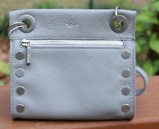 NWT Hammitt Tony Mist (Grey)/Silver Pebbled Leather small crossbody bag $195